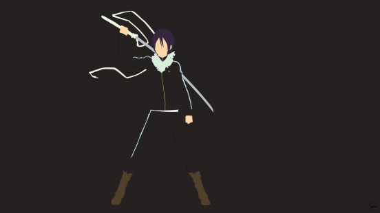 Yato Sword Noragami Minimalist Wallpaper by greenmapple17