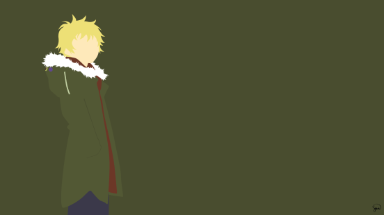 Yukine Noragami Minimalist Wallpaper by greenmapple17