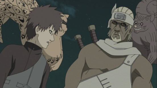 Gaara and Killer Bee with little Tailed Beasts
