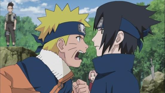 Naruto and Sasuke Argue