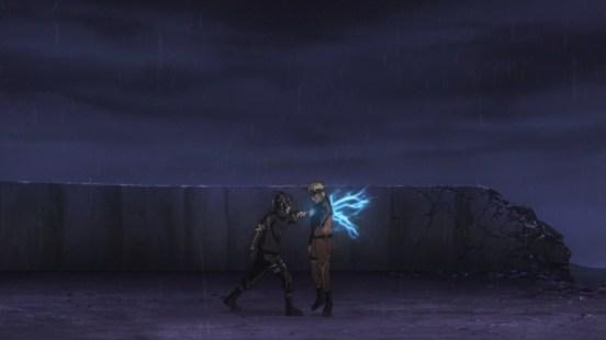 Sasuke stabs Naruto