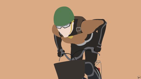 Mumen Rider One Punch Man Minimalist Wallpaper by greenmapple17