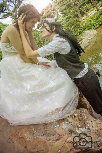 Hisana Byakuya Kiss Me by AnubisBride