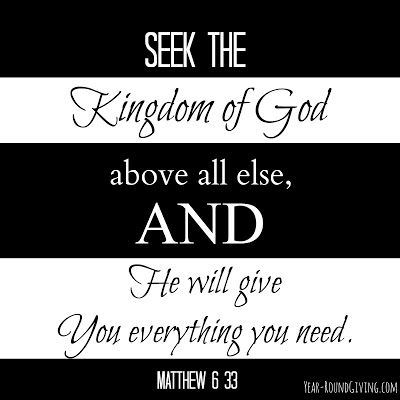 Seek the Kingdom of God first
