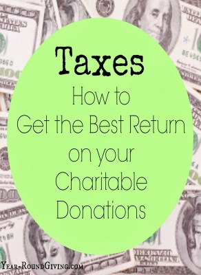 Taxes: How to get the most out of your charitable donations