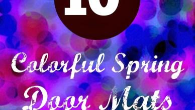 10 Colorful Spring Door Mats 11