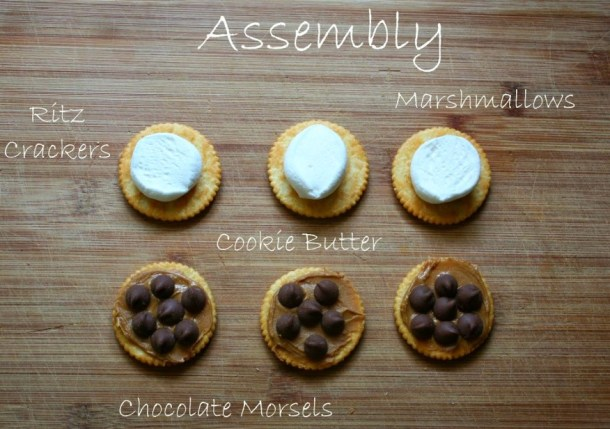 Assemble toaster oven S'mores