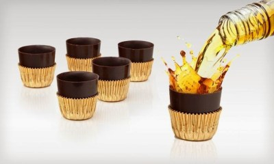 Unique gifts for the chocolate lover. Chocolate shot glasses.