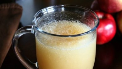 The Big Apple Cocktail is a frosty cocktail with Apple Brandy and Amaretto. Make this cocktail in the Fall with applesauce, juice or cider and a dash of cinnamon.