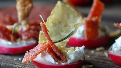 Radish and Cream Cheese Appetizer