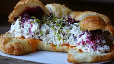 Chicken Salad and Blackberry Croissant 4