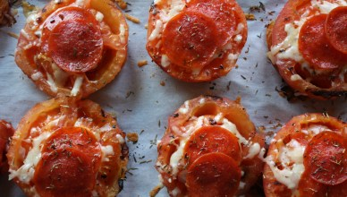 Grilled Tomatoes with Cheese and Pepperoni