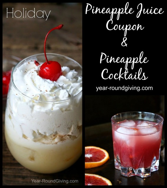 $1/1 Dole Pineapple Juice coupon and pineapple juice cocktail recipes