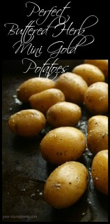 Perfect Buttered Herb Mini Gold Potatoes that melt in your mouth!