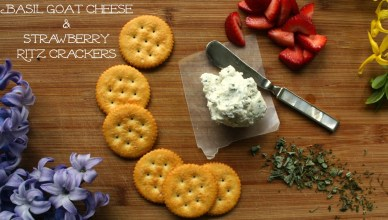 Basil Goat Cheese and Strawberry RITZ® Crackers 6