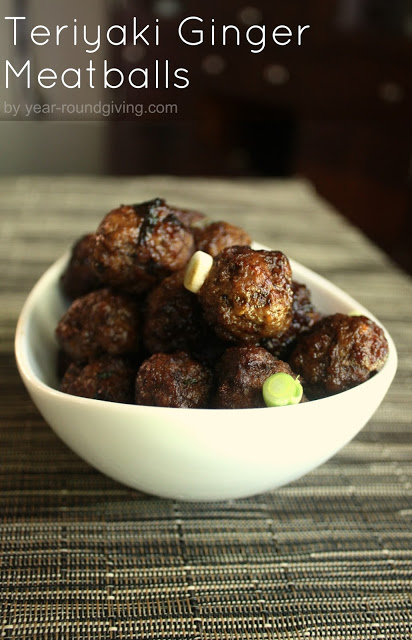 Teriyaki Ginger Meatballs