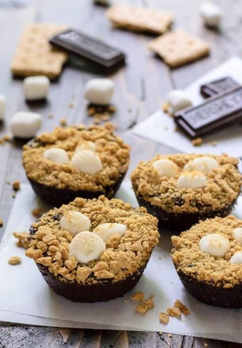 S'mores Brownie Bites. Smores Recipe