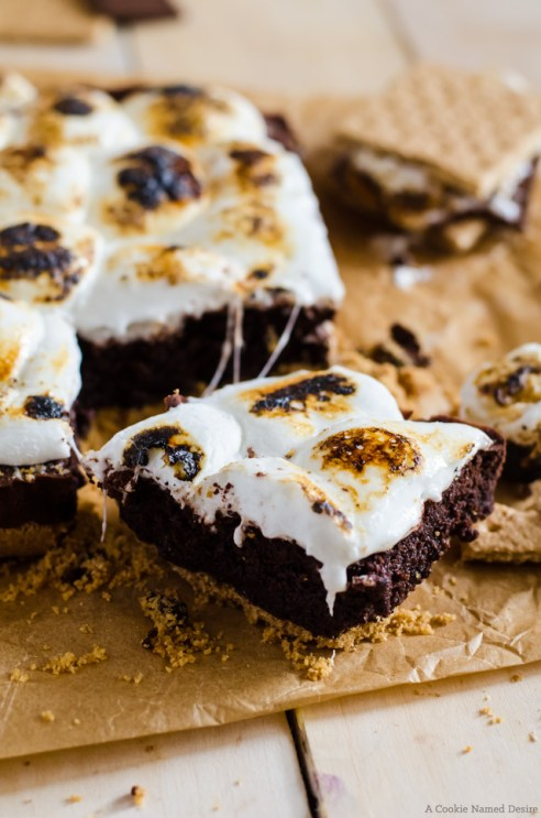 Fudgy S'mores Brownies Smores Recipes