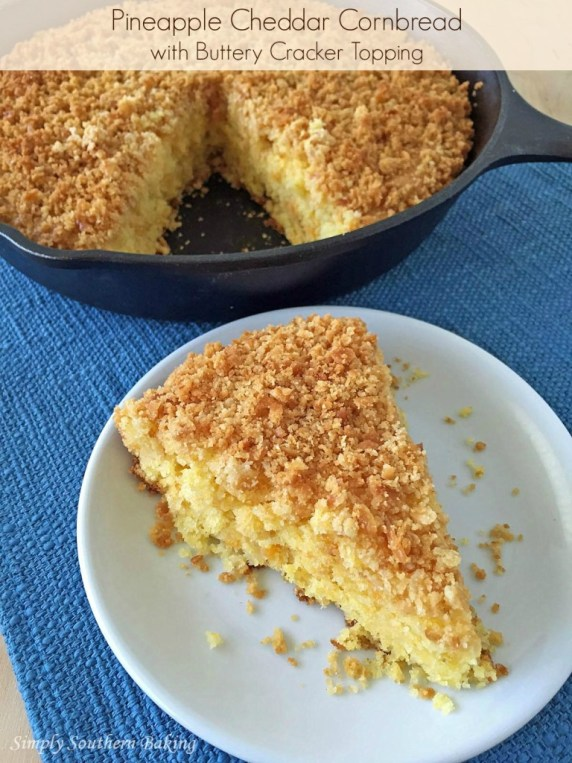 Pineapple Cheddar Cornbread with a Buttery Cracker Topping plus 35+ Cast Iron Skillet Recipes