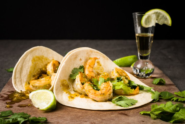 Tequila Orange Shrimp Tacos plus 40+ Cast Iron Skillet Recipes