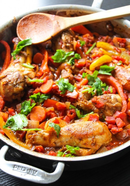Chicken Cacciatore plus 40+ Cast Iron Skillet Recipes