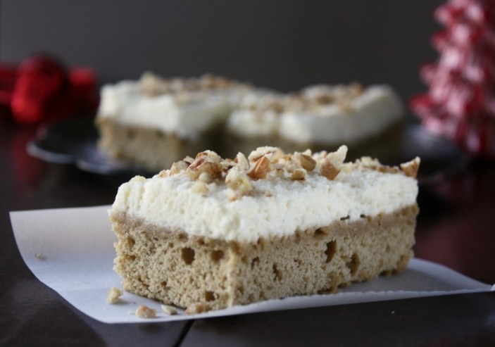 Coffee Cardamom Bars with Vanilla Bean Mascarpone Frosting