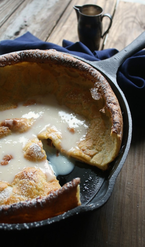 Dutch Baby Pancake with Warm Vanilla Sauce Recipe