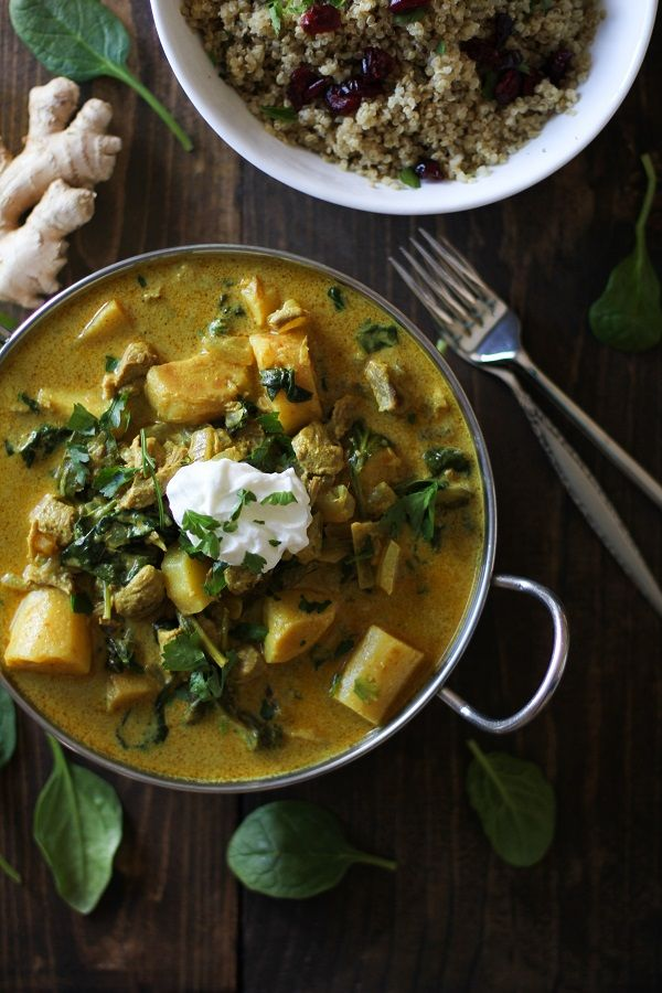 Crock Pot Parsnip and Lamb Curry with Spinach plus 60+ Recipes for Parsnips