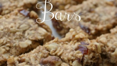 Walnut Date Oat Bars. These bars are perfect for breakfast on the go or for a snack.