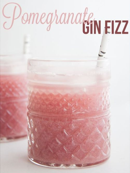 Pomegranate Gin Fizz plus 40 more Gin Cocktail Recipes that are must make!