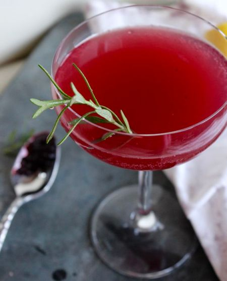 Marionberry Gin and Jam Winter Cocktail plus a collection of 40 more Gin Cocktail recipes.