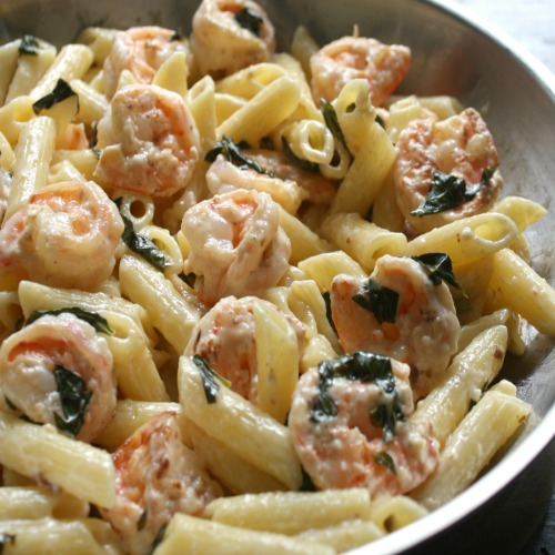 Lemon Basil Shrimp Pasta