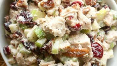 Leftover roasted chicken recipe - Fall Chicken Salad