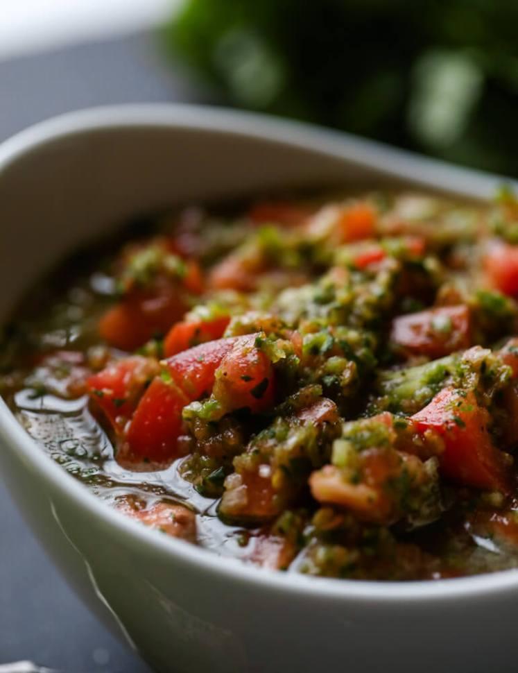 Fresh Salsa Recipe made in a blender