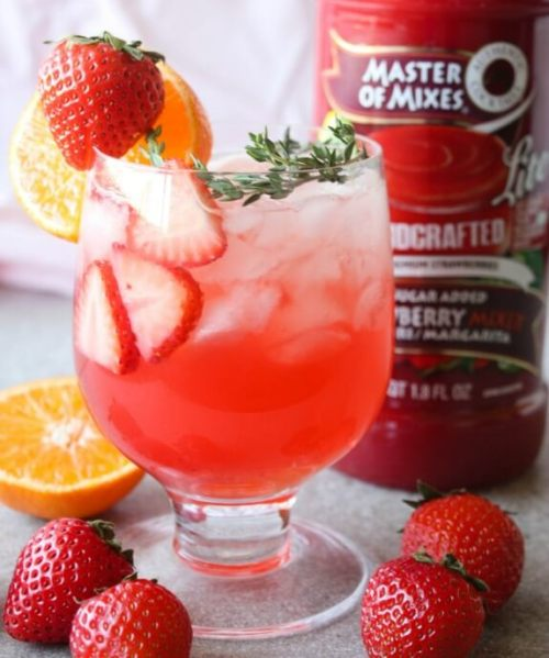 Prosecco Strawberry low calorie Cocktail