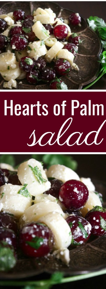 Hearts of Palm Salad with Grapes and Feta