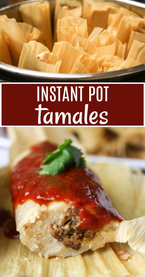 Instant Pot Tamales Recipe! Make Tamales in a couple of hours instead of a couple of days with this Pressure Cooker Tamale Recipe.