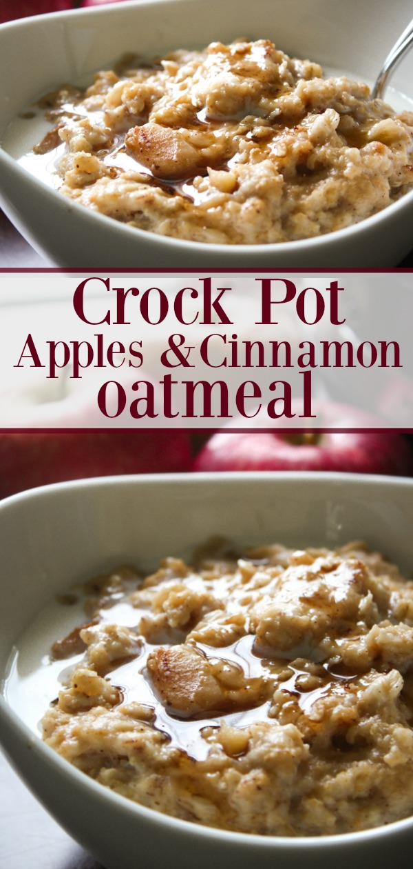 Crock Pot Oatmeal with Apples and Cinnamon