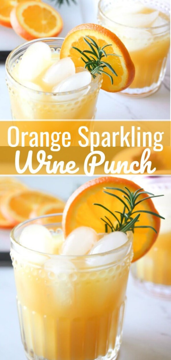 Orange Sparkling Wine Punch