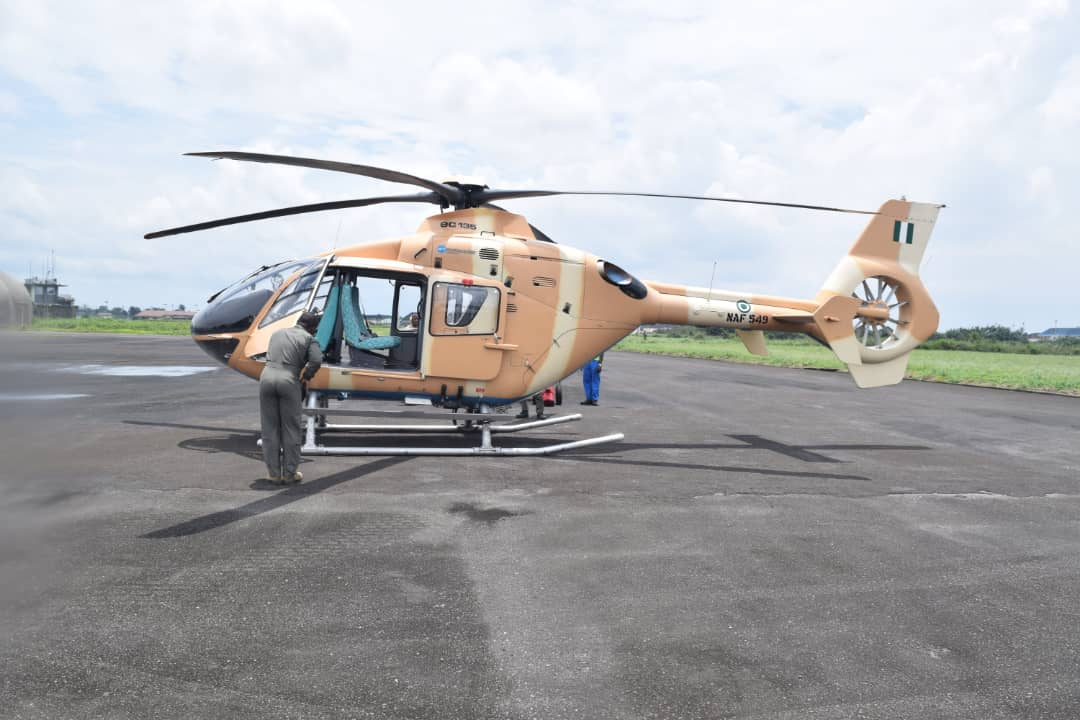 NAF Inducts Helicopter Reactivated Locally in Port Harcourt
