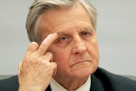 """Trichet o """"dono"""" do BCE. Por sua vez, propriedade dos interesses da Banca (http://dailybail.com)"""
