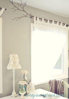 cheap cool curtain rod tree branch