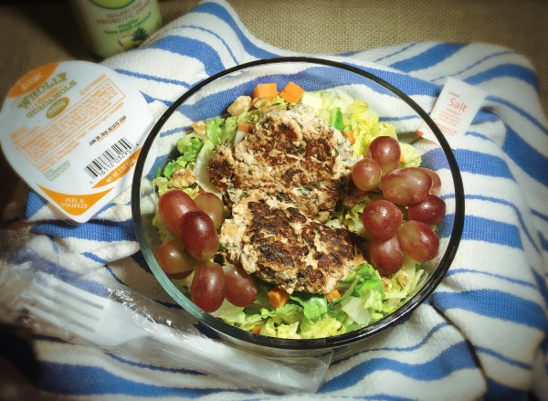 Loaded Turkey Burgers in a Tasty Salad Make for a Delicious & Comforting Meal on the Go!