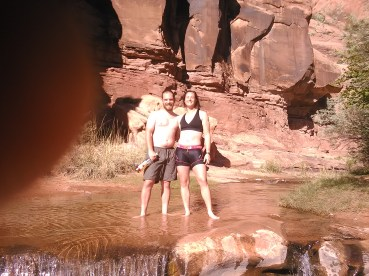 KateJustinSwimming_Moab