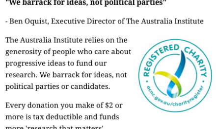 POD Why does the Australia Institute have charity status?