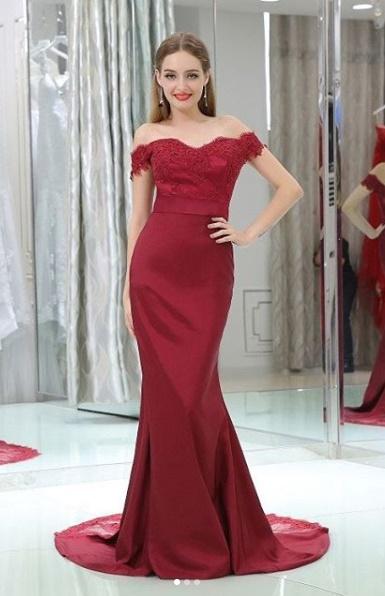 Macy's Formal Dresses Long Maroon