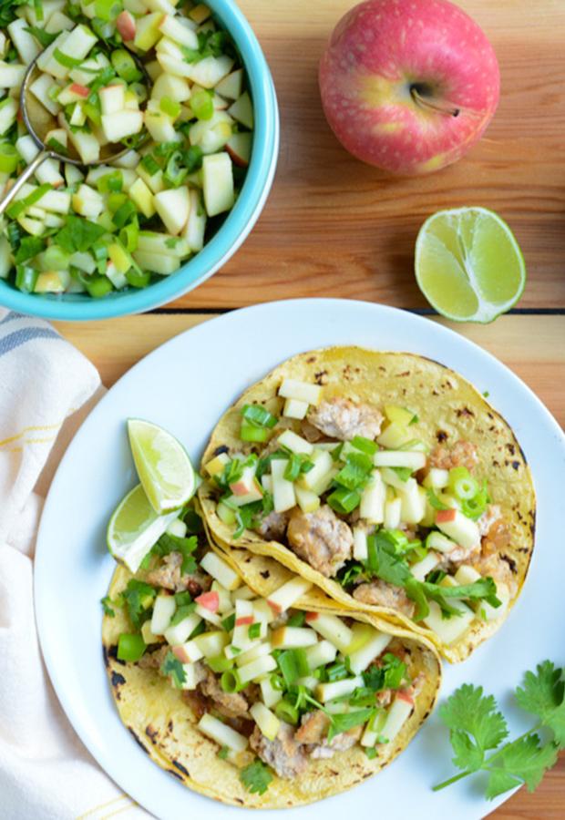 Ground Turkey Recipe: Tacos with Apple Salsa