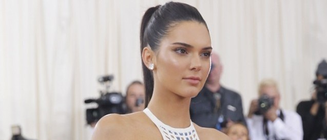 Television personality Kendall Jenner arrives at the Met Gala in New York