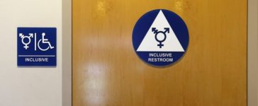 A gender-neutral bathroom is seen at the University of California Irvine campus in Irvine, California, United States on September 30, 2014. REUTERS/Lucy Nicholson