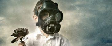 Gas Mask Boy (Shutterstock/ nunosilvaphotography)
